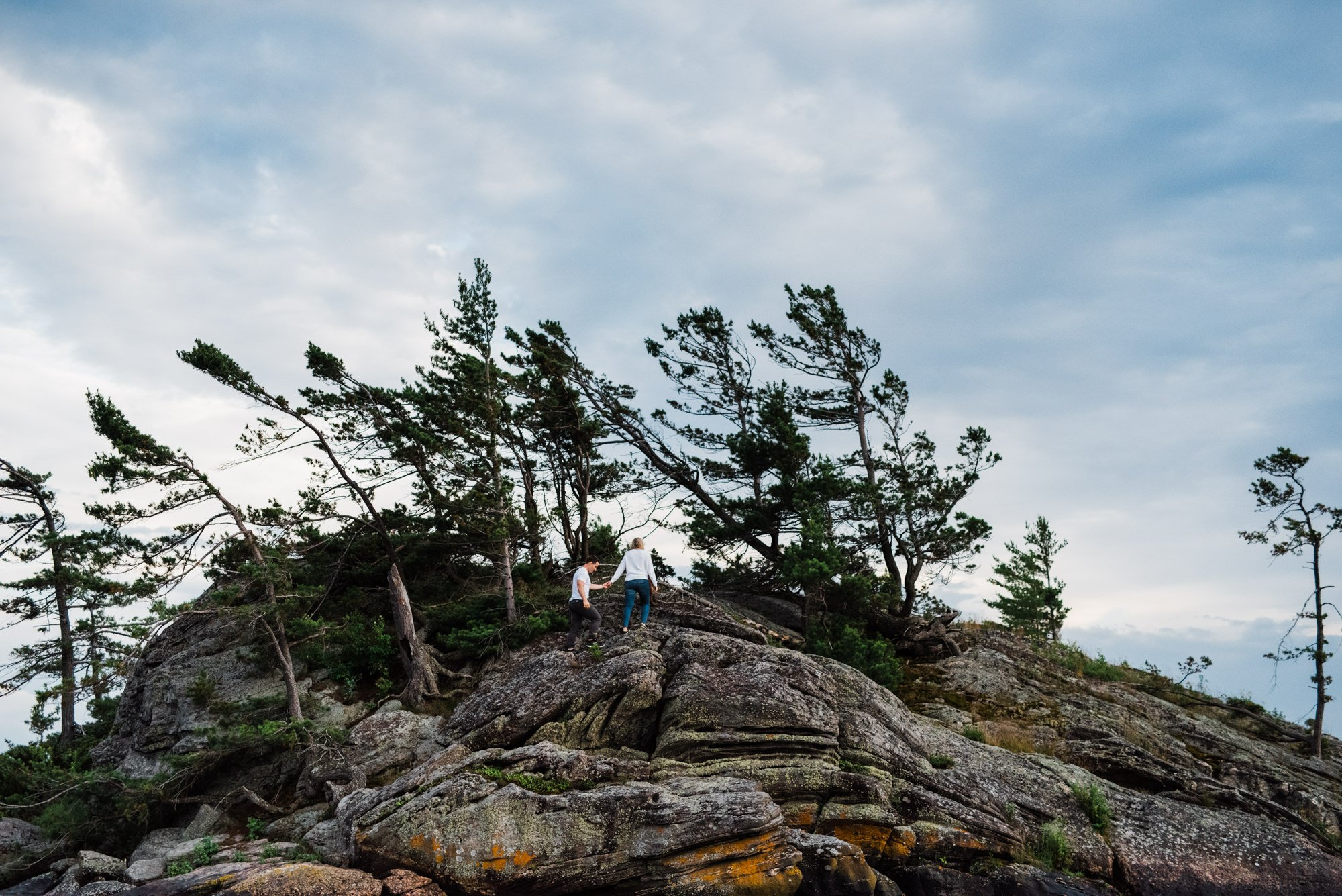 georgian bay engagement session